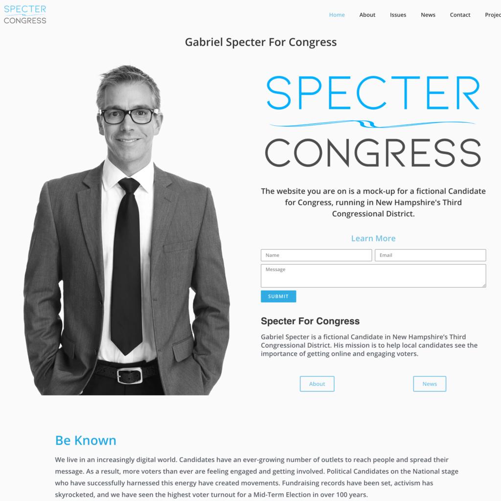 Political Candidate Website Builder Mock-Site